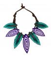 Bicolor Cocar necklace