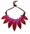 Fuchsia Cocar necklace