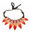 Salmon Cocar necklace