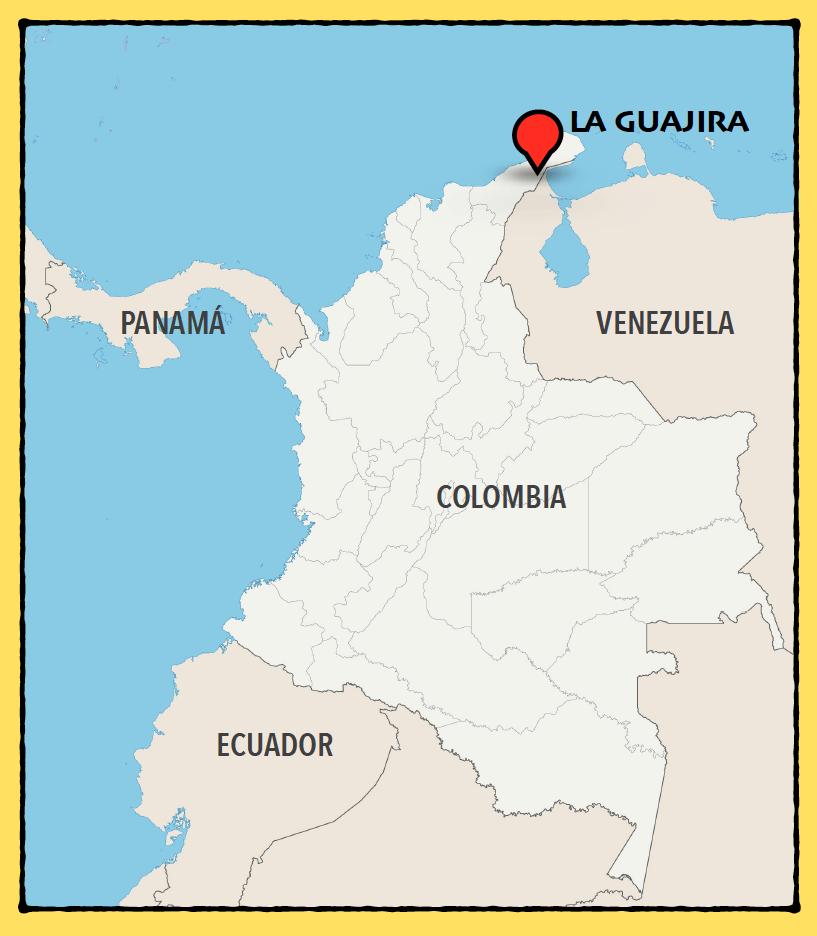 mapa la guajira colombia