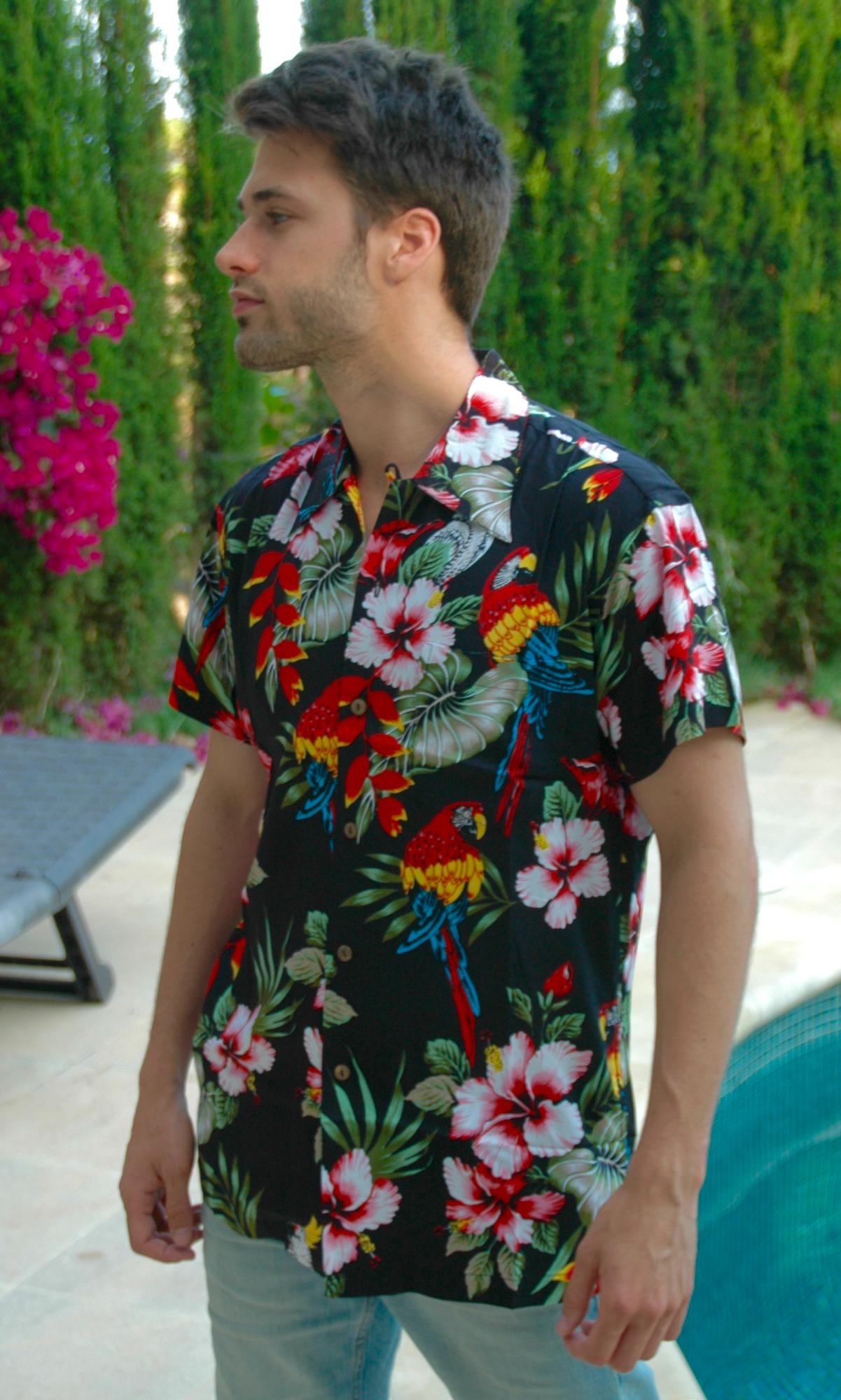 camisa hawaiana original hombre